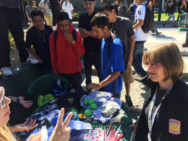 Students check out the swag on offer at Gear Up week