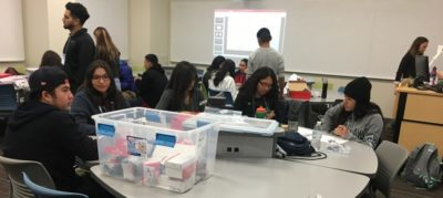 UNR - GEARUP - Campers work together on STEM projects