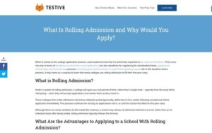 Facebook - List of Schools with Rolling Admissions