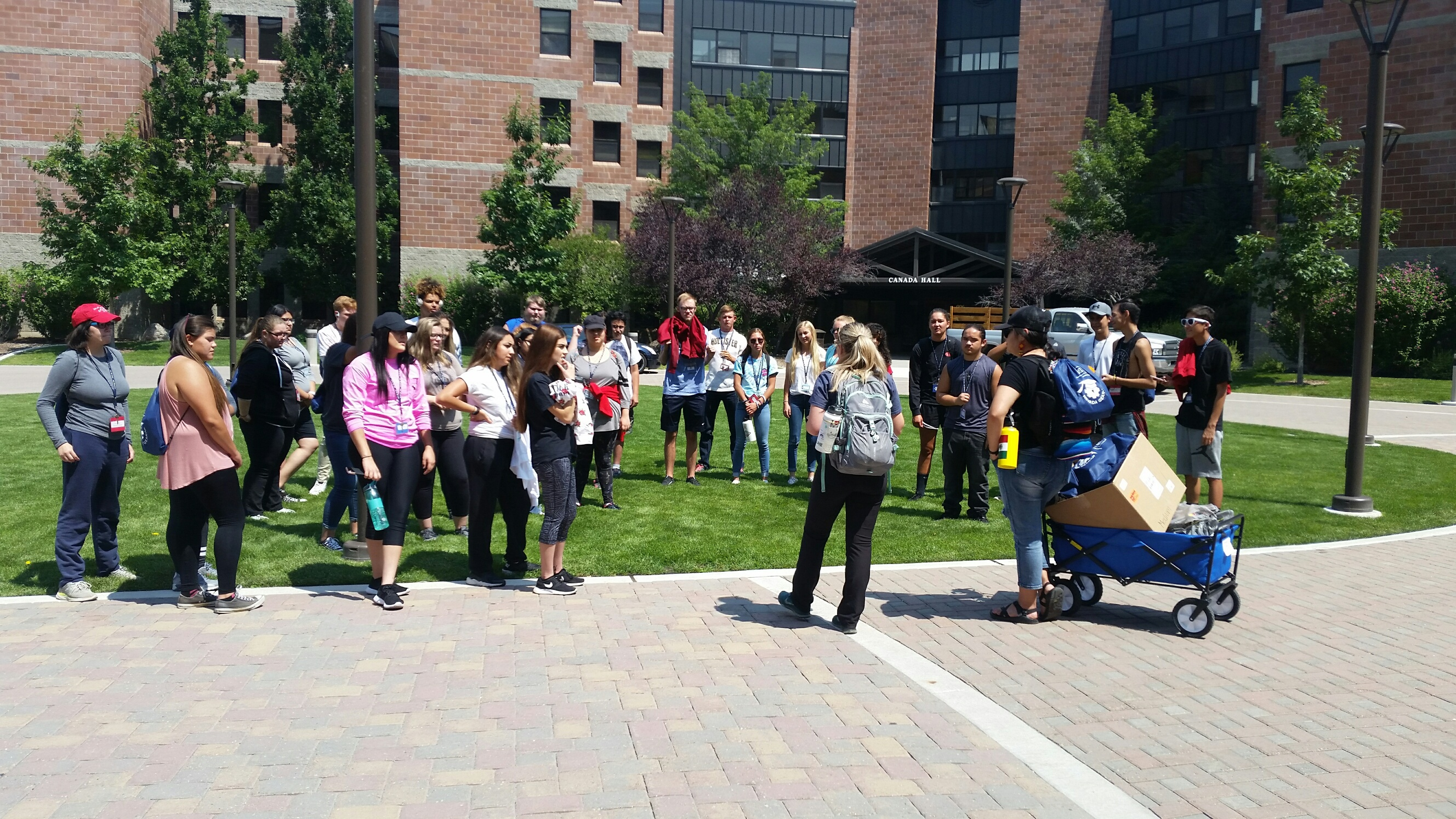 Potential students on tour at UNR College Boot Camp
