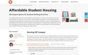 Tweet - Off-Campus Options for Students Ditching the Dorms