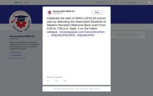 Tweet - Celebrate the start of WNC's School year