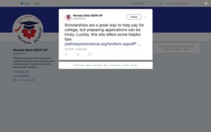 Tweet - Scholarship applications can be tricky
