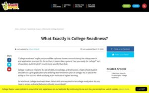 Tweet - What is college readiness