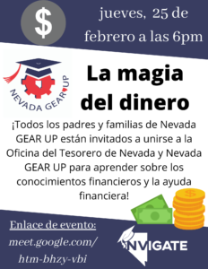 Spanish Financial Literacy Event Flier