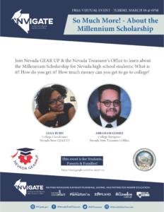 Millennium Scholarship Presentation Flier in English