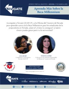 Millennium Scholarship Spanish Presentation Flier